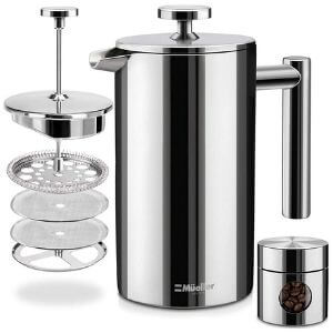 Mueller French Press Stainless Steel Coffee Maker