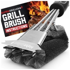 Alpha Grillers Grill Stainless-Steel Brush And Scraper