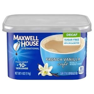 Maxwell House International French Vanilla Sugar Free Decaf Instant Coffee