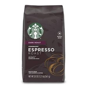 Starbucks Espresso Dark Roast Blend Whole Bean Coffee