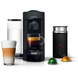 Nespresso VertuoPlus Coffee and Espresso Maker Bundle with Aeroccino Milk Frother