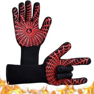 YUXIER Oven Gloves, Hot BBQ Grill Gloves