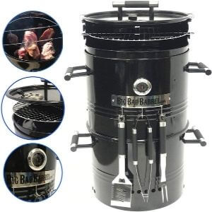 EasyGoProducts Barrel Pit Charcoal Barbeque Smoker Grill