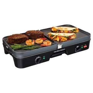 Hamilton Beach 3-in-1 Electric Indoor Grill + Griddle
