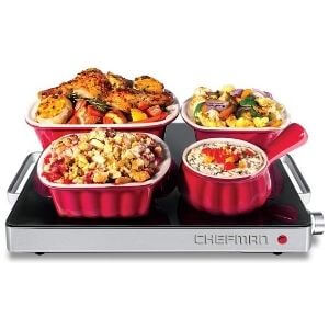 Chefman Compact Glasstop Warming Tray