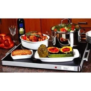 Deluxe Glass Buffet Warming Tray