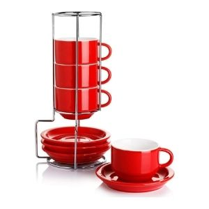 Sweese Porcelain Stackable Espresso Cups