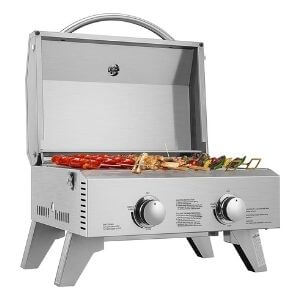 VIVOHOME Tabletop 2-burner Gas Grill