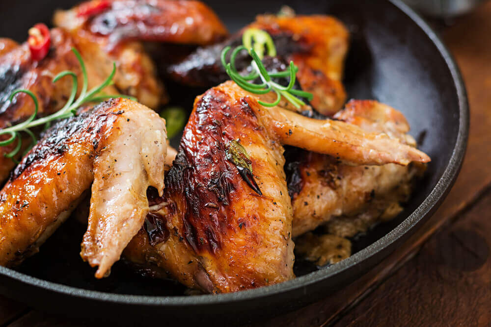 Reheat Chicken Wings Frying Pan