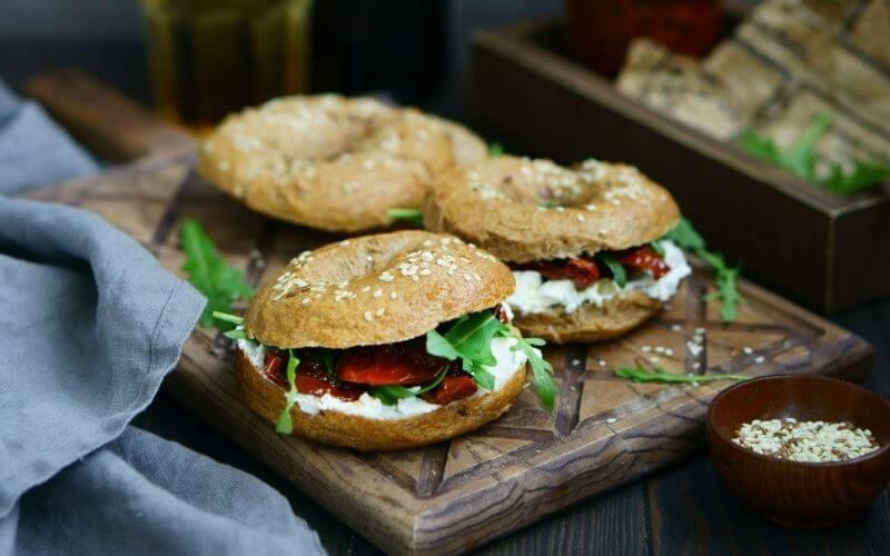 Vegan Bagel Sandwich