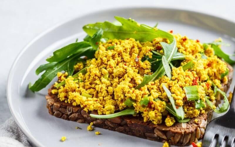 Vegan Tofu Egg Salad on Toast