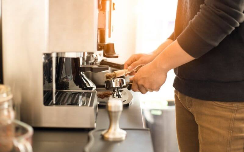 how to clean breville espresso machine