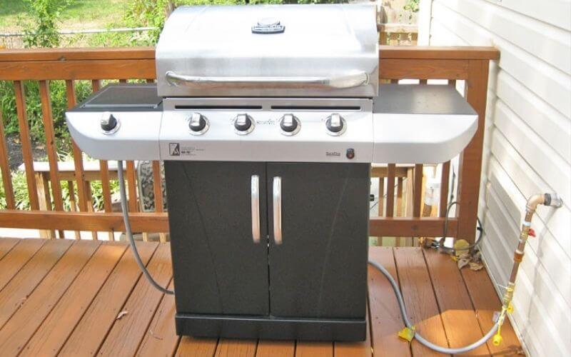 how to connect natural gas line to grill