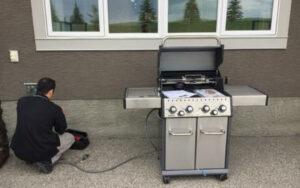natural gas grill installation