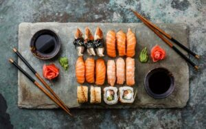 frozen sushi rolls
