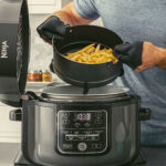 frying chicken in a pressure cooker